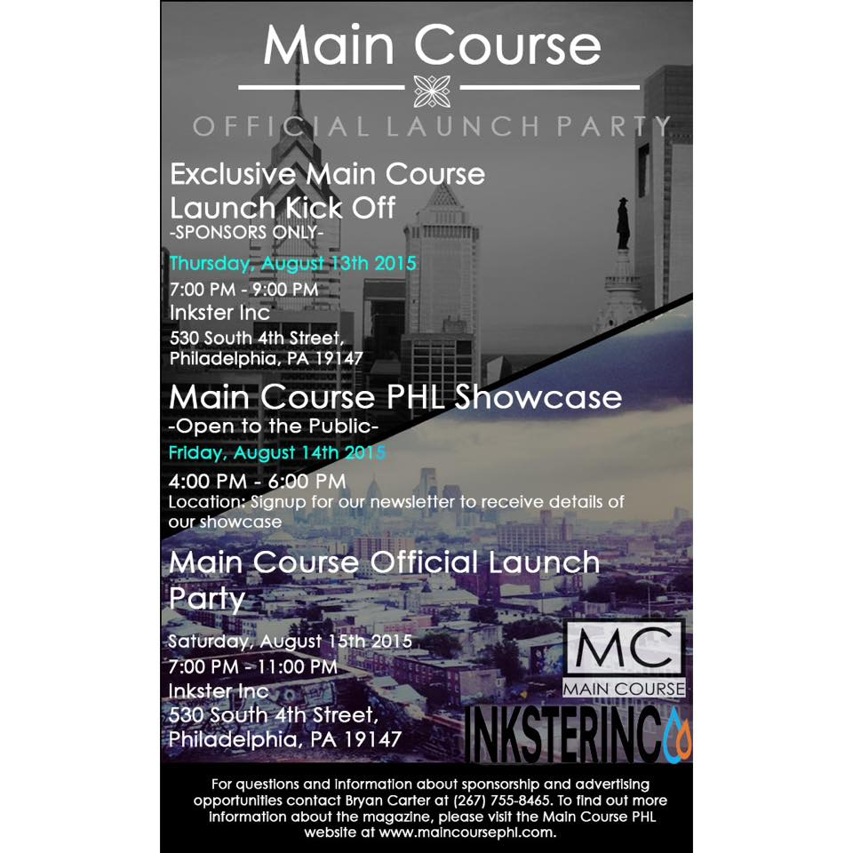 The Main Course Launch Party Flyer