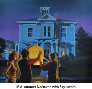 Mid-summer Nocturne with Sky Latern