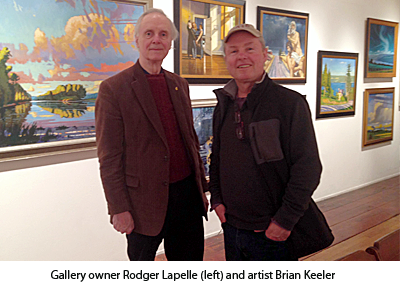Gallery owner Rodger Lapelle and artist Brian Keeler
