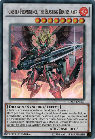 Yugioh - Ignister Prominence, the Blasting Dracoslayer
